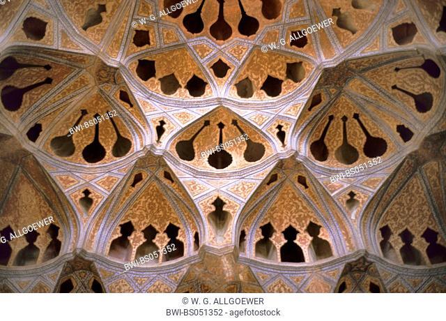 music-room in the Ali Qapu-palace, Iran, Isfahan