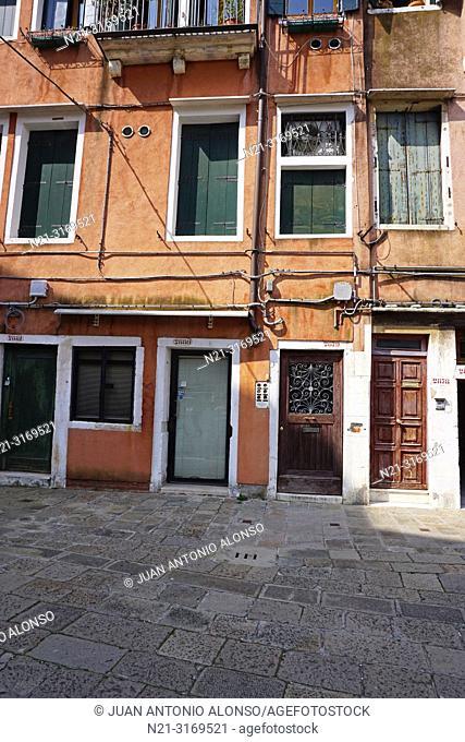 The Jewish Ghetto, Cannaregio Sestiere. Venice, Veneto, Italy, Europe