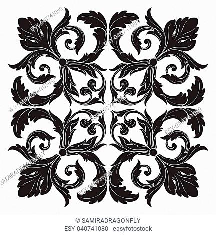 Classical baroque vector of vintage element for design. Decorative design element filigree calligraphy vector. You can use for wedding decoration of greeting...
