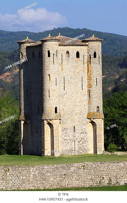 Europe, France, Languedoc-Roussillon, Aude, Arques, Arques Castle, Arques Chateau, Castle, Castles, Tourism, Travel, Holiday, Vacation