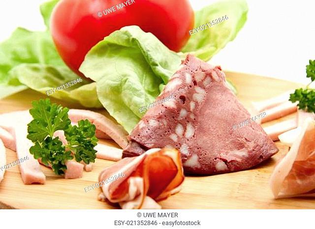 Rotwurst mit Schinken