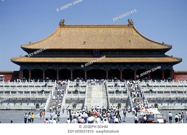 The Forbidden City - Tai He Dian Hall of Supreme Harmony in Beijing in Hebei Province, Peoples Republic of China