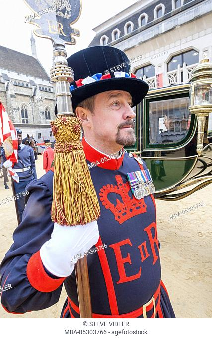 England, London, The Lord Mayor's Show, Guildhall, Beefeater