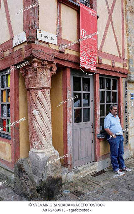 France, Sarthe, City of Le Mans, medieval house
