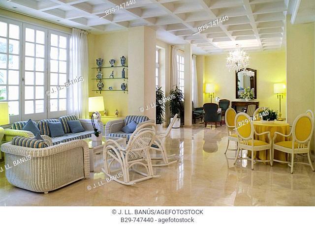 Hall in Hotel S'Agaro. Girona province, Catalonia, Spain