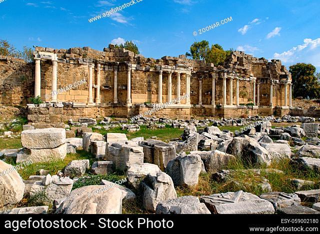 Ruins at Side in Antalya, Turkey