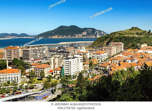 Panoramic view, fishing village of Laredo, Cantabrian Sea. Cantabria Spain Europe