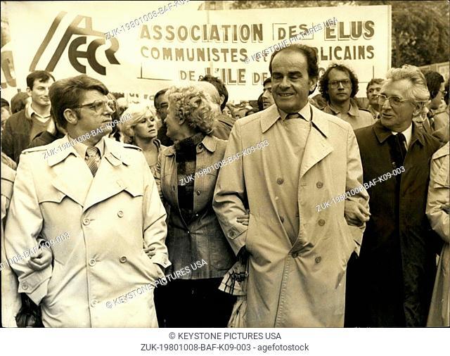 Oct. 08, 1980 - They are staging an anti-racist protest in Paris. (Credit Image: © Keystone Press Agency/Keystone USA via ZUMAPRESS.com)