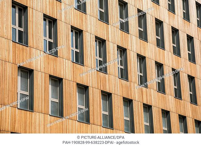 """27 August 2019, Austria, Wien: The new """"""""Hoho Wien"""""""", a high-rise consisting of 75 percent wood from the first floor upwards"""