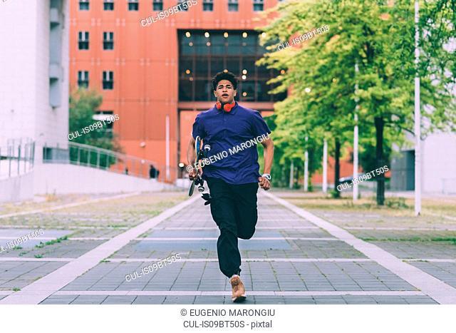 Man running, Milan, Italy