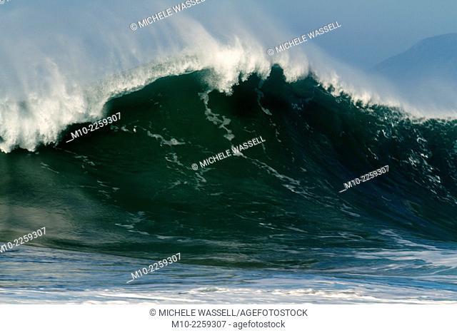 Waves in Morro Bay, California, USA