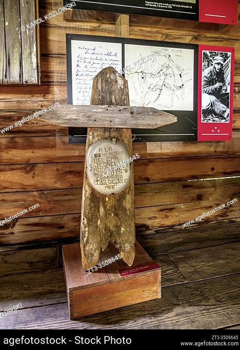 Cross from Geonel Rodriguez tomb, museum interior, Comandancia de la Plata, Sierra Maestra, Granma Province, Cuba