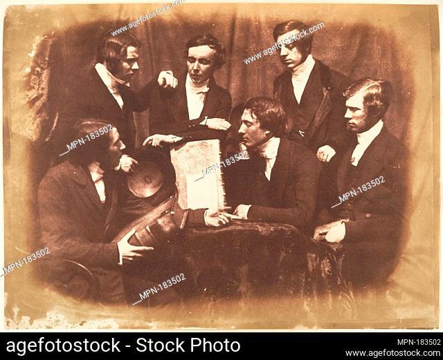 Prof. Fraser, Rev. Welsh, Rev. Hamilton, and Three Other Men. Photography Studio: Hill and Adamson (British, active 1843-1848); Artist: David Octavius Hill...