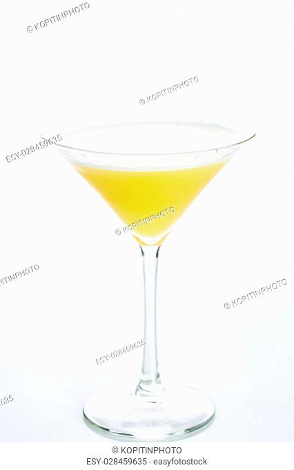 Orange cocktail cutout, isolated on a white background