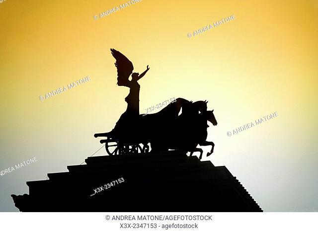 The Vittoriano monument. Rome, Italy
