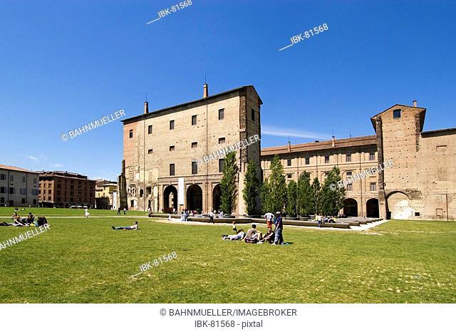 Parma Emilia Romagna Italy Palazzo della Pilotta with the Galleria Nazionale