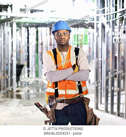 African American standing on site
