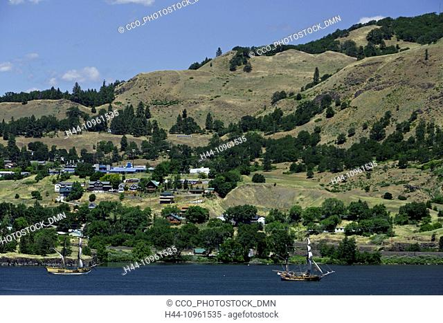 WA, Washington, USA, America, United States, Oregon, OR, USA, America, United States, ships, ship, boat, boats, sail, sailing, Columbia River