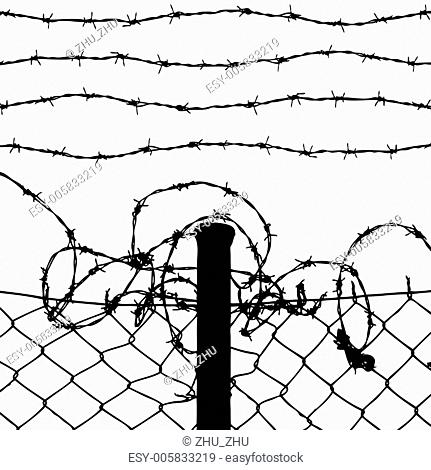 Wire Fence Drawing