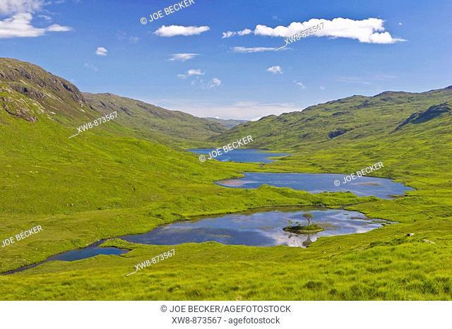 Loch an Ellen in Glen a Chaiginn, Isle of Mull, Scotland