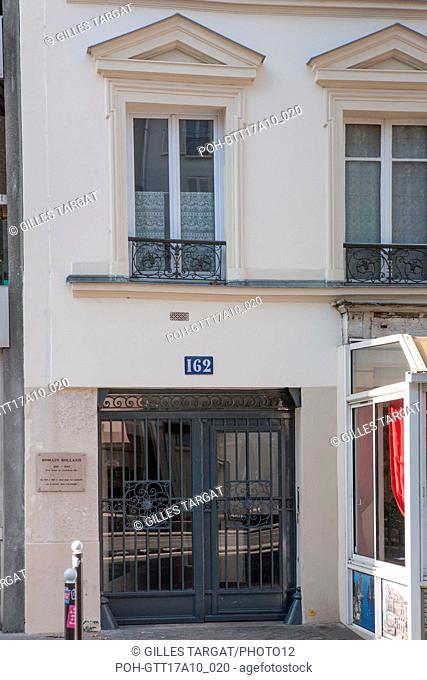 Paris, 162 boulevard du Montparnasse, romain rolland lived here Photo Gilles Targat