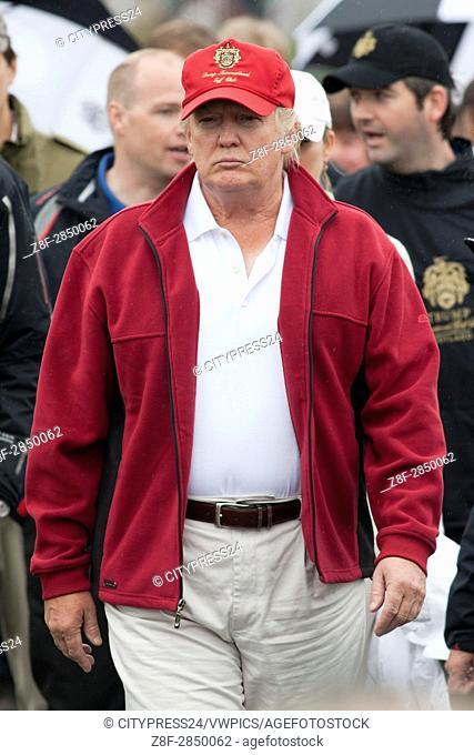 Donald Trump. Opening of Trump International Golf Links. Official opening of Donald Trump's golf course at the Menie Estate, Aberdeen