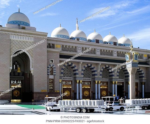 Facade of a mosque, Al-Haram Mosque, Mecca, Saudi Arabia