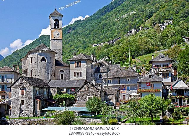 a typicical village in Ticino