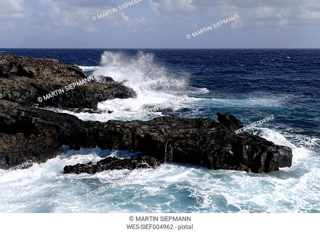 Spain, Canary Islands, La Palma, Volcanic coast at Fuencaliente