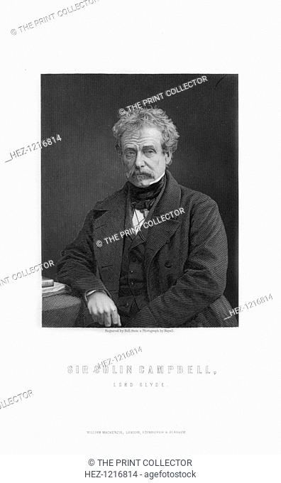 Field Marshal Sir Colin Campbell, 1st Baron Clyde, Scottish soldier, (1893). Campbell (1792-1863) served with distinction in the Crimean War and in the...