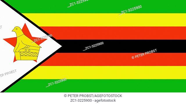 National flag of the Republic of Zimbabwe