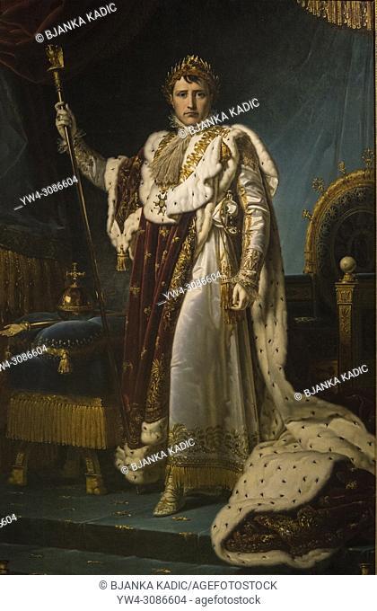 Capodimonte National Art Museum, Painting of Napoleon Bonaparte as emperor, Naples, Italy