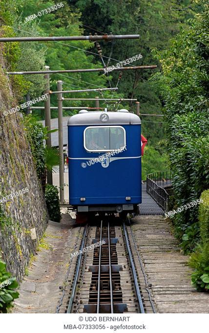 Funicular Locarno-Madonna del Sasso, Locarno, Lake Maggiore, Ticino, Switzerland