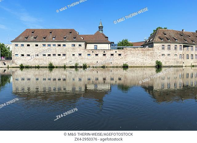 National School of Administration or ENA in the former Commanderie Saint Jean along the ILL Canal, Strasbourg, Alsace, Bas-Rhin Department, France