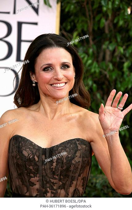 Actress Julia Louis-Dreyfus arrives at the 70th Annual Golden Globe Awards presented by the Hollywood Foreign Press Association, HFPA