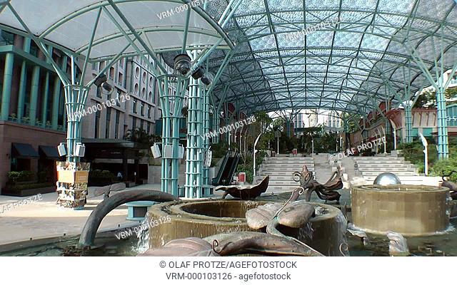 Merlion Plaza on Sentosa Island, Singapore