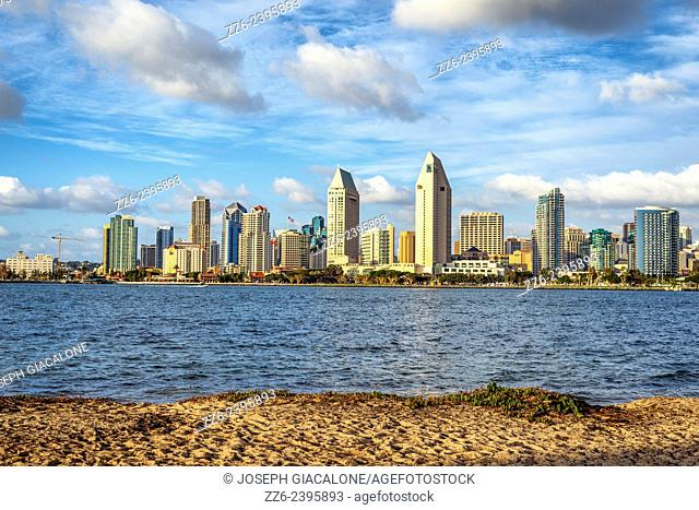 View of San Diego Harbor and the Downtown Skyline from Coronado,California, United States