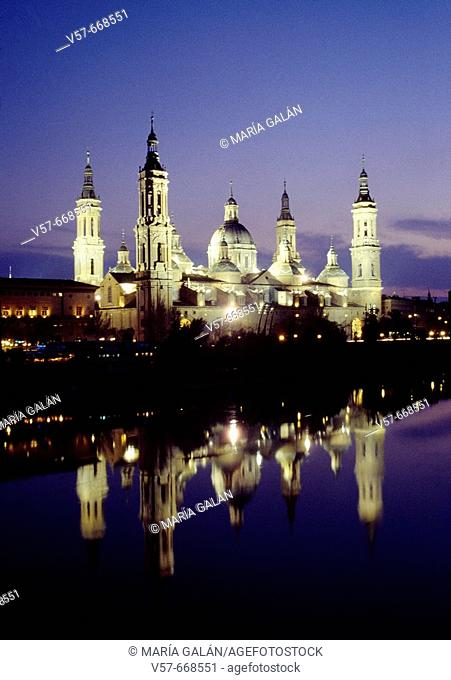 Basilica of Nuestra Señora del Pilar, Zaragoza. Aragon, Spain
