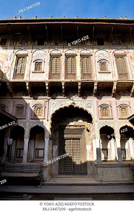 India, Rajasthan, Nawalgarh, local haveli