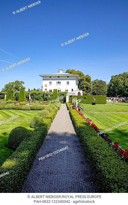 Solliden Palace in Borgholm, on July 14, 2019, .celebrations of Crown Princess Victoria her 42nd birthday .Photo : Albert Nieboer /