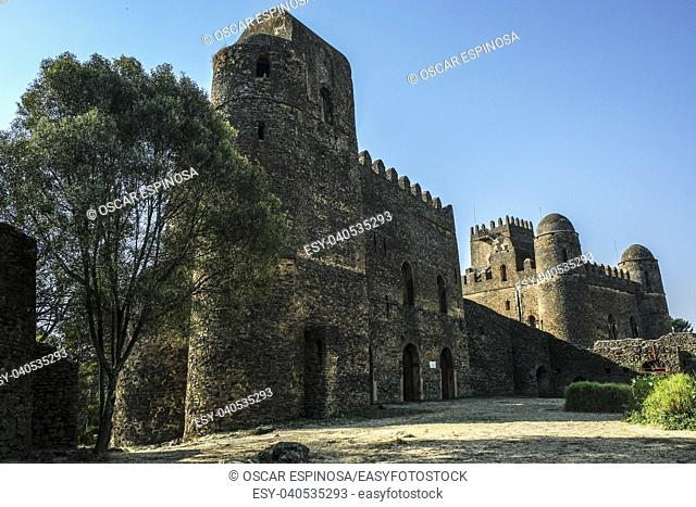 Fasil Ghebbi, UNESCO World Heritage Site in Gondar, Ethiopia