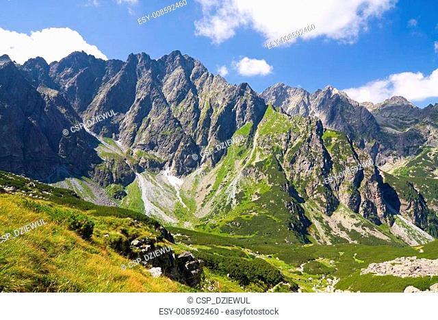 Bielovodska valley in High Tatras, Slovakia