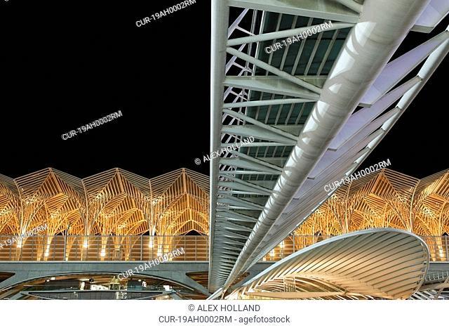 The Oriente station is the main modern railway station in Lisbon, designed by Santiago Calatrava