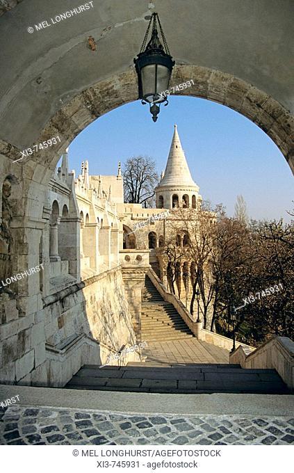 Fishermen's Bastion, Trinity Square, Castle Hill District, Budapest, Hungary