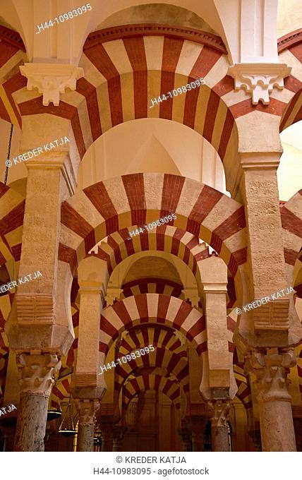 Mezquita de Cordoba interior in Cordoba, Andalusia