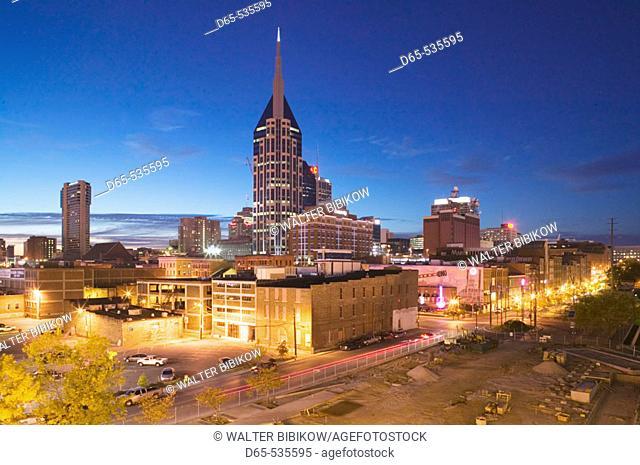 Downtown along Cumberland River. Nashville. Tennessee. USA