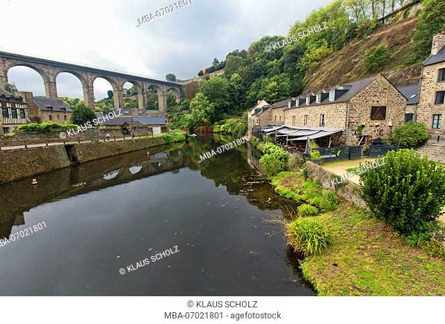 Viaduct over the Rance in Dinan