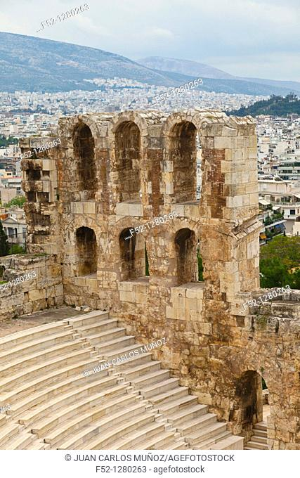 Odeón or Theatre of Herodes Atticus, Acropolis, Athens, Greece