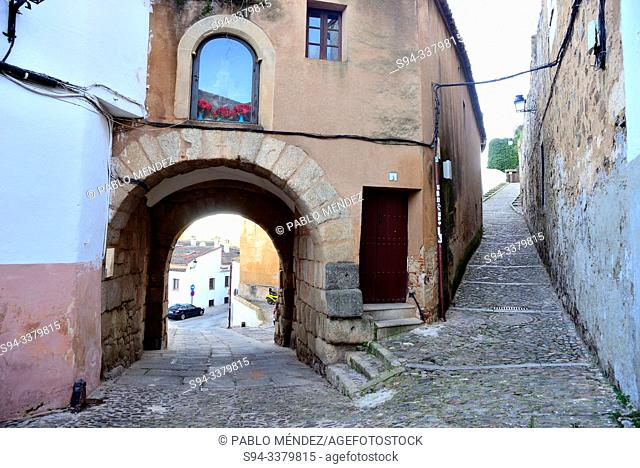 Gate to the Jewish quarter of Caceres, Extremadura, Spain