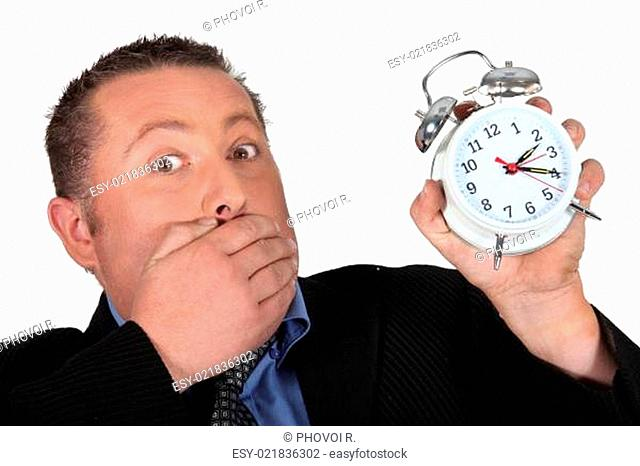 Man shocked to discover the time